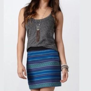 American Eagle Blue Aztec Boho tribal print skirt